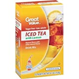 Great Value Iced Tea with Lemon Drink Mix, 10ct (Pack of 4)