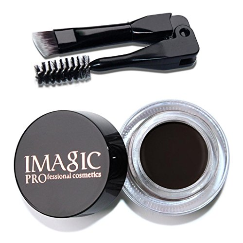 YJYdada Eyebrow Enhancers Waterproof Long Lasting Eyebrow Gel Cream Makeup + Brush - Light Ebony Brown