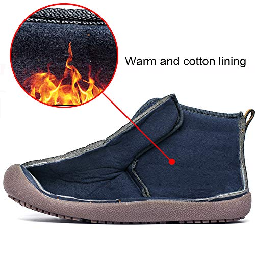 Warm Snow Slippers Lace Black Winter and Women Fur Shoes Lined Boots Up Flat Boots Boots Warm Men Outdoor Ankle for DADAZE Waterproof Indoor qSIEFwx