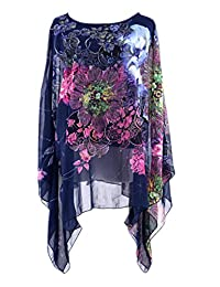 Women Summer Maxi Chiffon Button Down Dress Shirt