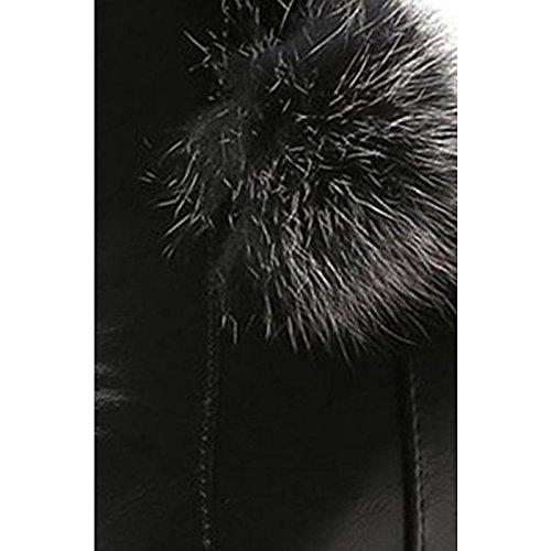 botas Puntera Black casual negro Moda redonda for Confort mujer tobillo PU Zapatos Office botas Botas de de Carrera botines invierno XHnYU1Z8q