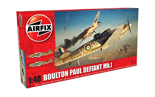 Airfix A05128 Boulton Paul Defiant MK I Day Fighter Military Plastic Model Kit (1:48 Scale)