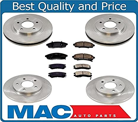 Front Brake Rotors and Ceramic Pads For REGAL CHEVY LUMINA PONTIAC GRAND PRIX