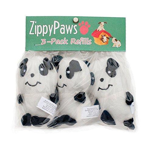 ZippyPaws - Zoo Friends Burrow, Interactive Squeaky Hide and Seek Plush Dog Toy - Panda Miniz, 3 Pack Bamboo Dog Plush Toy