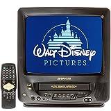 "SANSUI COM311AD 13"" TV/VCR Combo AC/DC + 12 Disney VHS Movies"