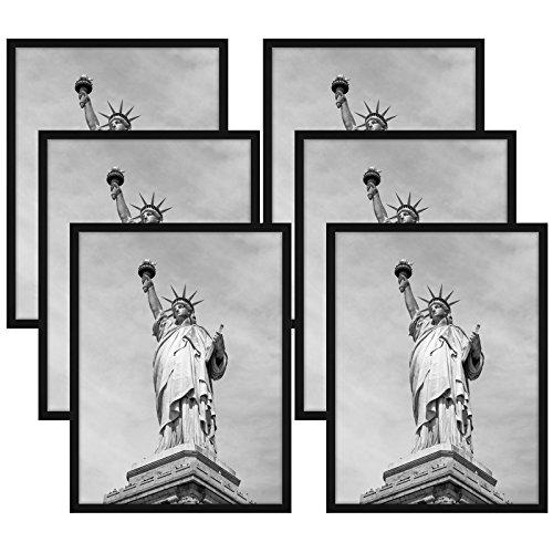 Americanflat 6 Pack - 18x24 Black Poster Frames - Display Ve