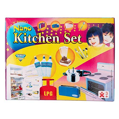 White Earth Nano Kitchen Set 28 Pcs Mini Utensils And Plastic Non Toxic Indian Kitchen Set Great Kitchen Toys For Girls Kid S Love Kitchen Set Indoor Game Best For Gift Return Gift