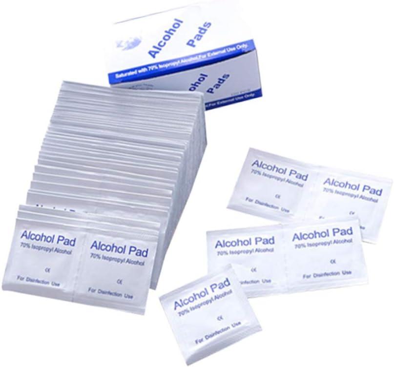 STOBOK Tampone Preparazione Alcool Tampone Sterile Monouso per Alcool Salviette Imbevute di Tessuto Salviettine Protettive per Pulizia Multifunzionale 800 Pezzi