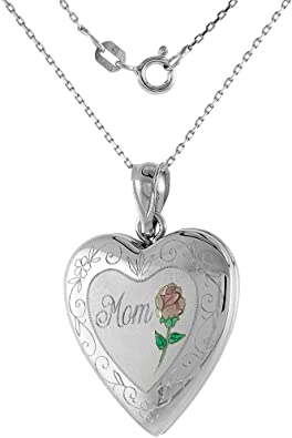 Silver Gift for Her Wife FREE SHIPPING. HandMade Necklace Sterling Silver with Zirconia Enamel inserts Mom Sister Vintage