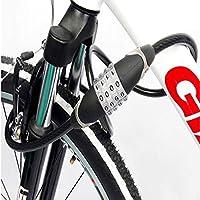 Aishanghuayi Cerradura de bicicleta, Cable de acero antirrobo ...
