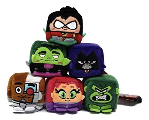 WISH FACTORY KAWAII CUBES TEEN TITANS GO SET OF 6 (Cyborg Titans Go Teen Plush)