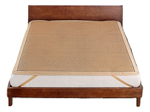 Qbedding Rattan Cooling Summer Sleeping Pad Mattress Topper (Twin, No Pillow Shams, Ancient) by Qbedding