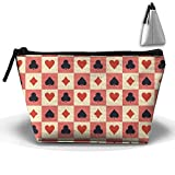 Bing4Bing Oxford Fabric Chequered Poker Trapezoid Receive Bag,Sewing Kit Cartridge Bag Cosmetic Bag Storage Bag