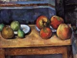 Paul Cezanne (Still Life - Apples and Pears, c.1885/87) Hand-Painted Art Reproduction with Oil on Canvas (20.1x26.8 in) (51x68 cm)