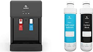 Avalon A8CTBOTTLELESSBLK Countertop Self Cleaning Touchless Bottleless Cooler Dispenser, black & 2 Stage Replacement Filters For Avalon Branded Bottleless Water Coolers, 1500 Gallons