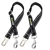 ZOTO Dog Seat Belt,2 Pack 56-80cm Adjustable Dog Cat Car Safety Seatbelt Harness Strap Lead for Fit All Car Seatbelt Buckle,Dog Car Belt Travel Accessories