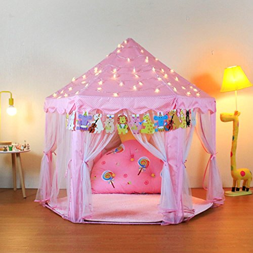 Dress Up Castle Storage (Yoobe Hexagon Princess Castle Play Tent Indoor for Kids Gift)