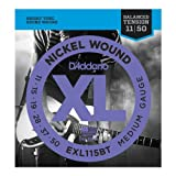 D'Addario EXL115BTx5 (5 sets), XL Balanced Tension, Med, (.011-.050)
