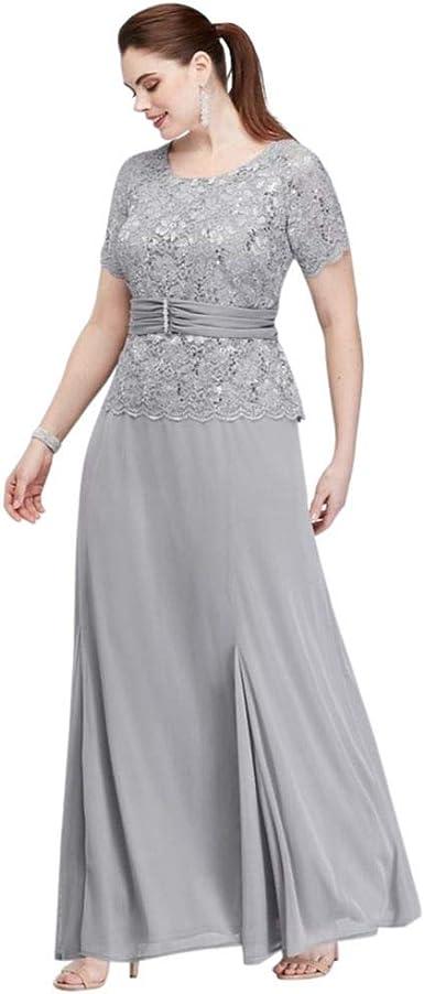 Bridal Mother Dress with Jacket Short 3//4 Sleeve 2 pcs Beaded Chiffon Plus Size