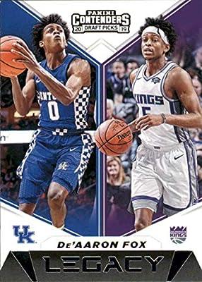 2019-20 Panini Contenders Draft Picks Legacy Basketball #21 De'Aaron Fox Kentucky Wildcats/Sacramento Kings Official NBA Trading Card From Panini America