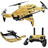 MightySkins Skin For DJI Max Coverage - Gold Tiles   Protective, Durable, and Unique Vinyl Decal wrap cover   Easy To Apply, Remove, and Change Styles   Made in the USA