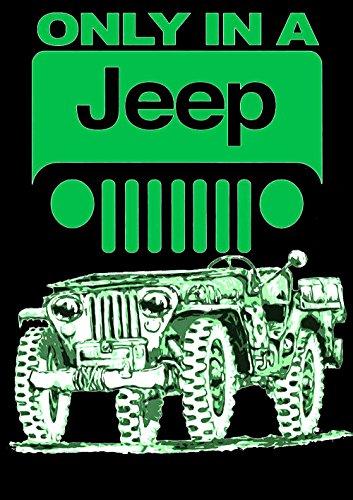 Jeep Fun Auto Schwarze T-Shirt -582