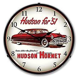 1951 Hudson Hornet Lighted Wall Clock