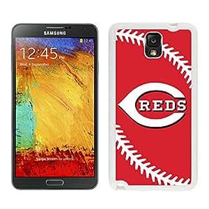 Samsung Galaxy Note 3 Cincinnati Reds White Cellphone Case Beautiful and Cool Design