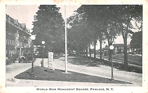 (World War Monument Square Pawling, New York Postcard)