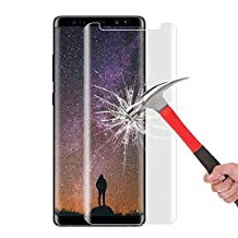 Galaxy Note 8 Screen Protector, Daker [Case Friendly] [2 pack] HD Clear [Bubble Free] [Easy to Install] 3D Curved Edge 9H Hardness Tempered Glass for Samsung Galaxy Note 8 (Clear 2 pack)