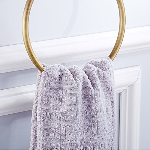 WINCASE Towel Ring Towel Holder for Bathroom, Solid Brass Antique Brass Finish Concealed Screw Wall Mounted Classic Retro by WINCASE (Image #5)