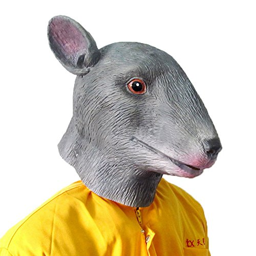 [The Twelve Zodiac Animal Mask - Halloween--Mouse] (Latex Wolf Suit)