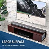 FITUEYES Black Wall Mounted Media Console