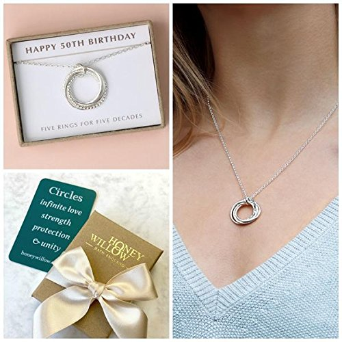 Amazon Com 50th Birthday Gift For Her 50th Birthday Necklace