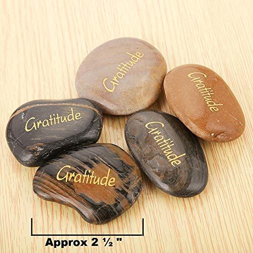 Pack of 12, Gratitude Rocks Bulk RockImpact 12pcs Gratitude Inspiration Stone Engraved Pocket Stone Natural River Rock Word Stone Bulk Lot Gratitude Stones Bulk Magic Rocks Wholesale Price