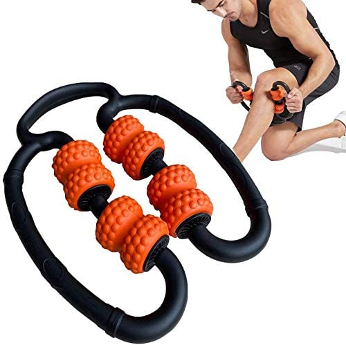 Legs Back AMS Neck Release After Fitness Yoga Pilates Swim Ball Games Sunflower Home Circle Hand held Foam Massage Roller Stick,Deep Tissue Massager for Myofascial Relief Muscle Soreness Pain