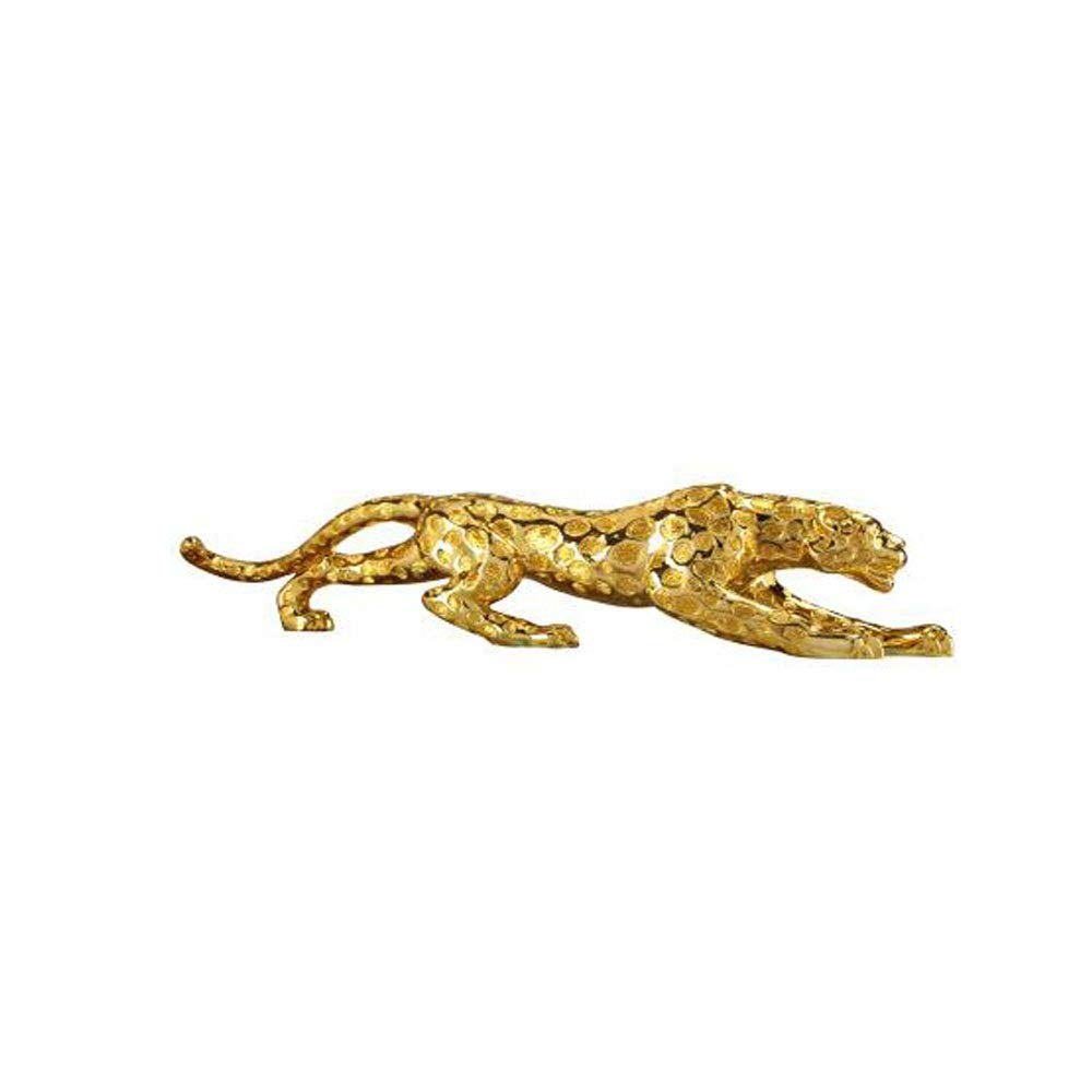 Home Decorations, Creative Leopard Ornaments, Cute Decorations, Gifts, Home Furnishings, Couples, Desktop Living Room, Gift Furnishings (Color : Gold, Size : 5514cm)