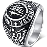 united states army ring - Jude Jewelers Stainless Steel United States Veteran Ring Size 7-15 (11)