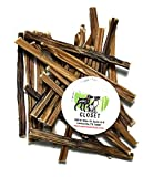 USA 6-inch Extra Thin Bully Sticks for Dogs Made in USA Grain-Free High-Protein Mini Beef Pizzle Dog Chews 4.5oz (12-16 Count) by Sancho & Lola's
