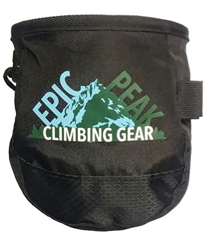 Epic Gear Chalk Bag for Gymnastics, Climbing, and Weight Lifting Black