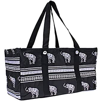 Wireframe All Purpose Large Utility Bag (Black Elephant)