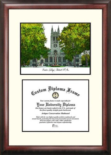 Boston College Scholar Framed Lithograph with Diploma by Landmark Publishing