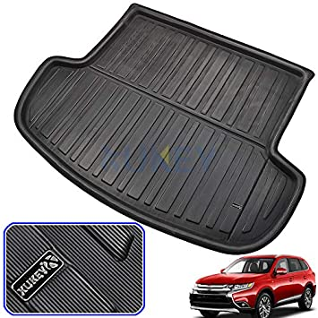 Rear Trunk Tray Cargo Boot Mat Liner Carpet Black For Ford Escape Kuga 2013-2018