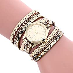 Womens Bracelet Watches COOKI on Sale Clearance Lady Watches Female watches Cheap Watches for Women-Q3 (Gold)