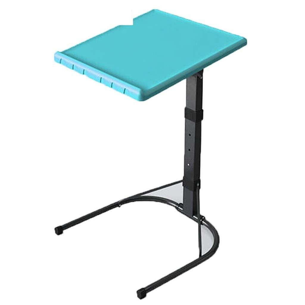 100%本物 調節可能なトレイテーブル - ベッド B07QGD2QZ6&ソファのテレビディナートレイ、3つの高さの快適な折りたたみ式テーブル、プラスチック製のシンプルなポータブル折りたたみ式テーブル、取り外し可能なソファベッドサイド/スナック/エンド 青) :/コンソールノートパソコンデスク (色 : 青) B07QGD2QZ6 青, 木のおもちゃ デポー:b63e42ac --- vanhavertotgracht.nl