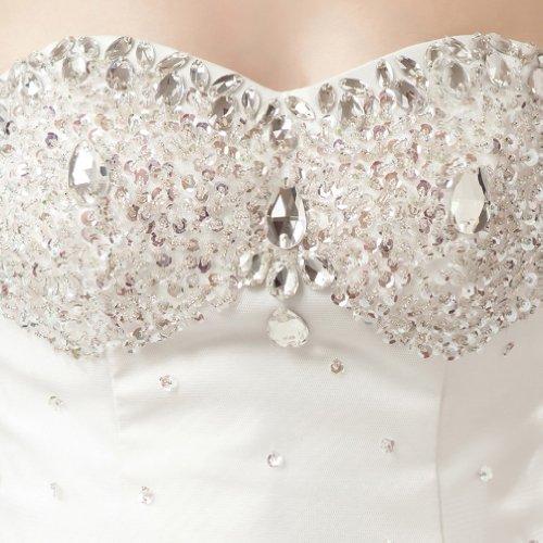 Prinzessin Kleidungen Kapelle Brautkleider Mit A Weiß Ausschnitt Perlenstickerei Tuell Kristall Damen Applikation Schleppe Herz Linie Dearta Ixwqn0vR5w