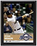 "Ryan Braun Milwaukee Brewers Sublimated 10.5"" x 13"" Plaque - Fanatics Authentic Certified - MLB Player Plaques and Collages"