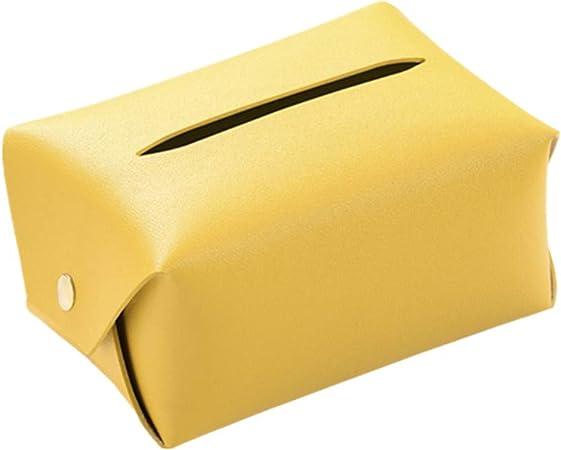 HEELPPO Caja de pañuelos Cajas para pañuelos de Papel Caja de pañuelos Cubre rectángulo Cajas de pañuelos Soporte de Caja de pañuelos Yellow: Amazon.es: Hogar
