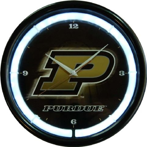 Authentic Street Signs NCAA College Team Plasma Clock (Purdue Boilermakers)