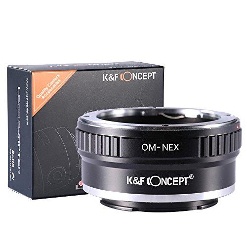 K&F Concept Lens Mount Adapter, Olympus OM Lens to Sony NEX (E-Mount) Camera Body, for NEX-3, NEX-3N, NEX-5, NEX-5R, NEX-6, NEX-7